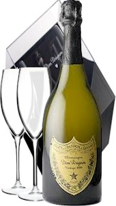 More details Dom Perignon Gift Set With Flutes 2002